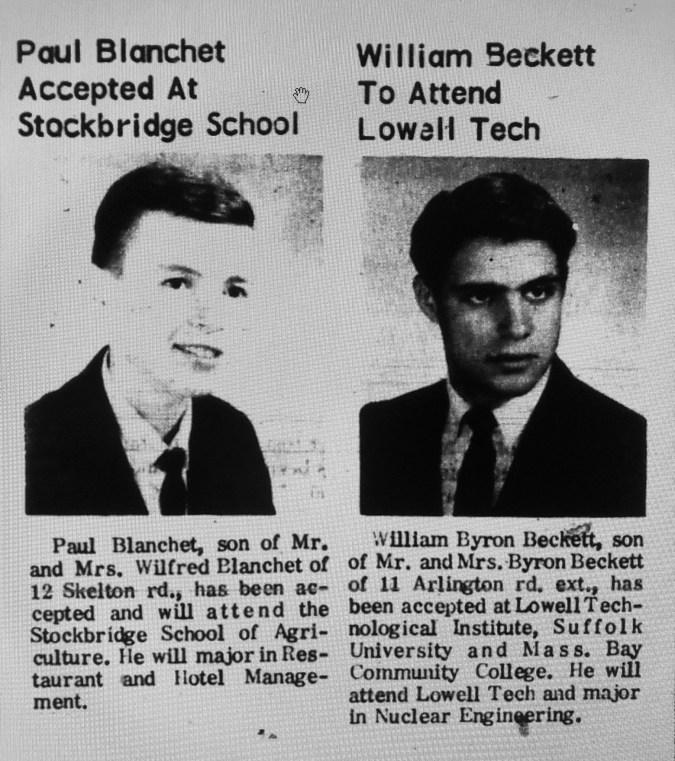 Paul Blanchet William Beckett Burlington MA