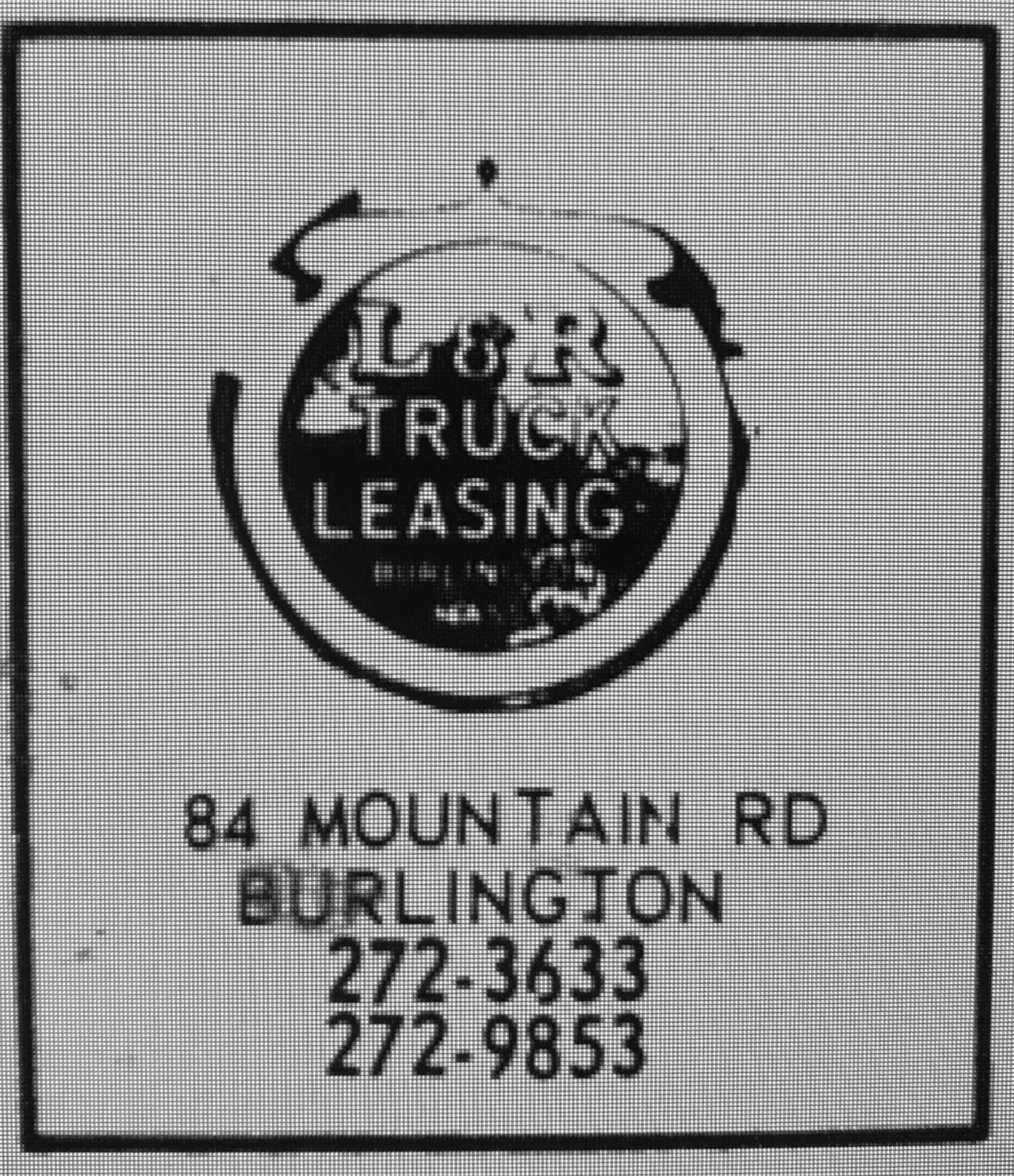 L&R Truck Leasing 84 Mountain Road Burlington MA