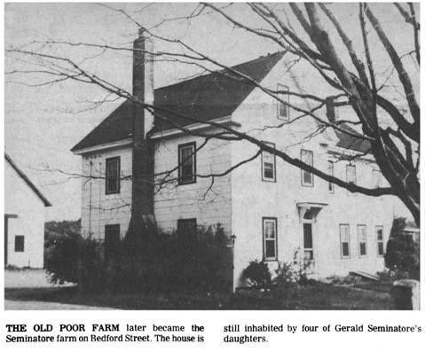 Seminatore Poor Farm Bedford St. Burlington MA