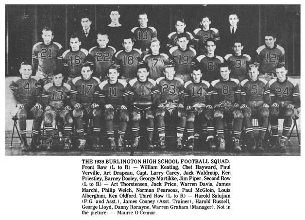 1939 Burlington High School football team