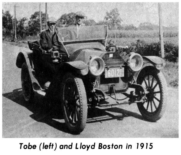 Tobe and Lloyd Boston in 1915