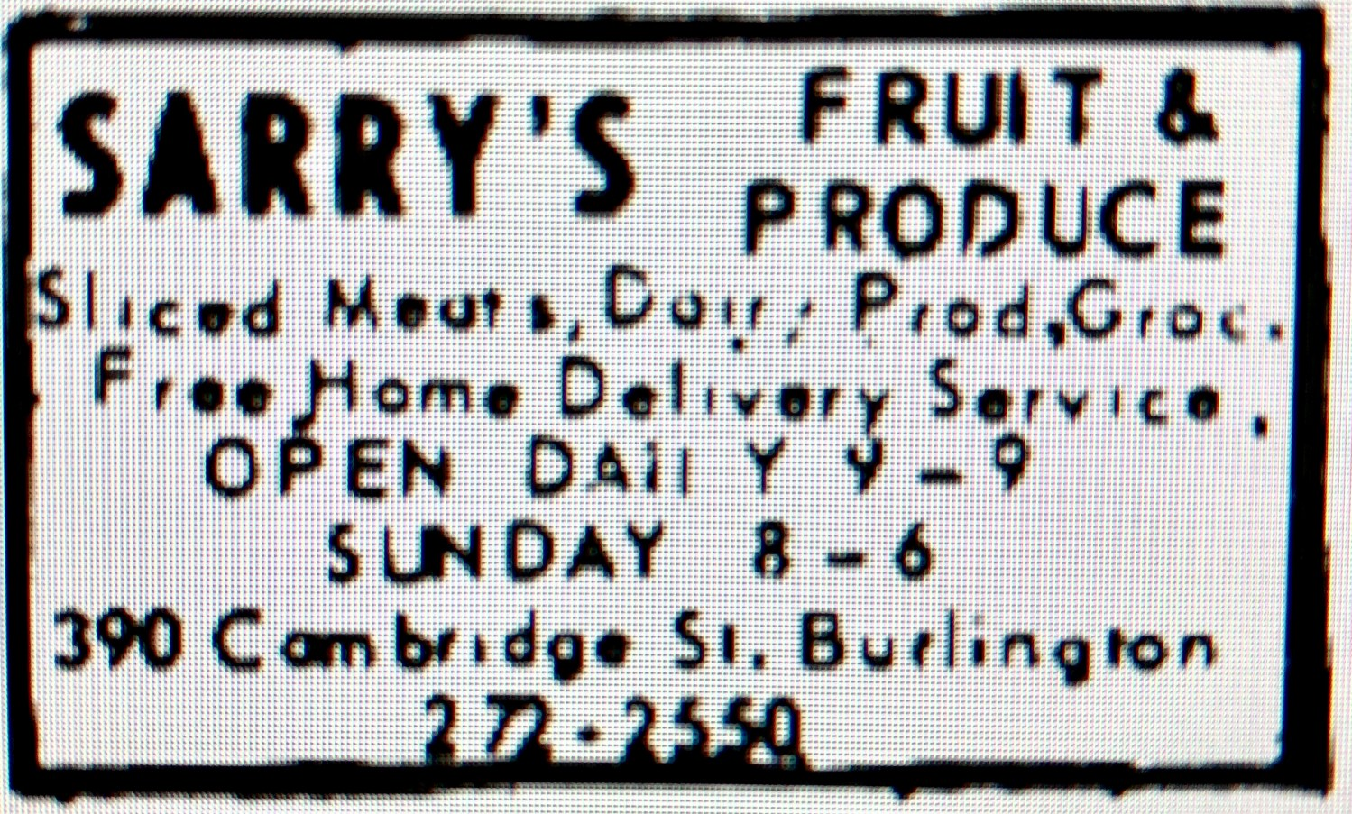 Sarry's Fruit and Produce Burlington MA