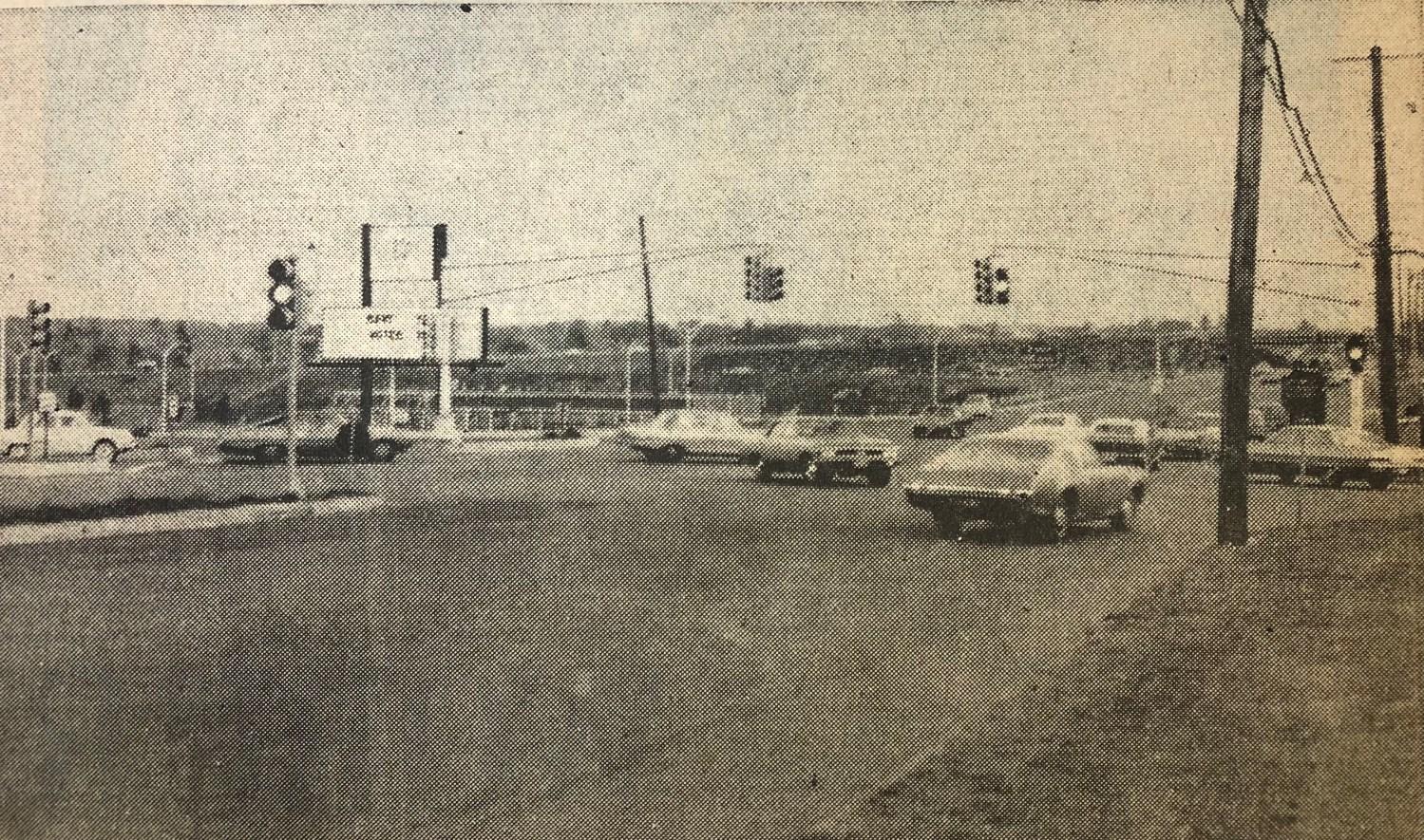 Traffic light chaos fall of 1968 Burlington MA