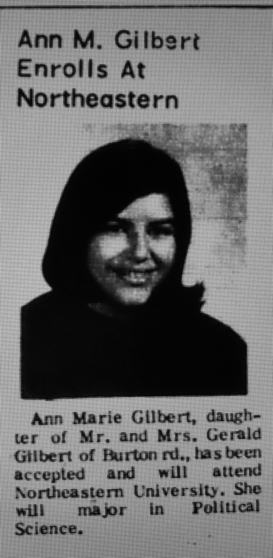 Ann Gilbert Northeastern University Burlington MA