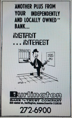 Burlington Bank and Trust ad