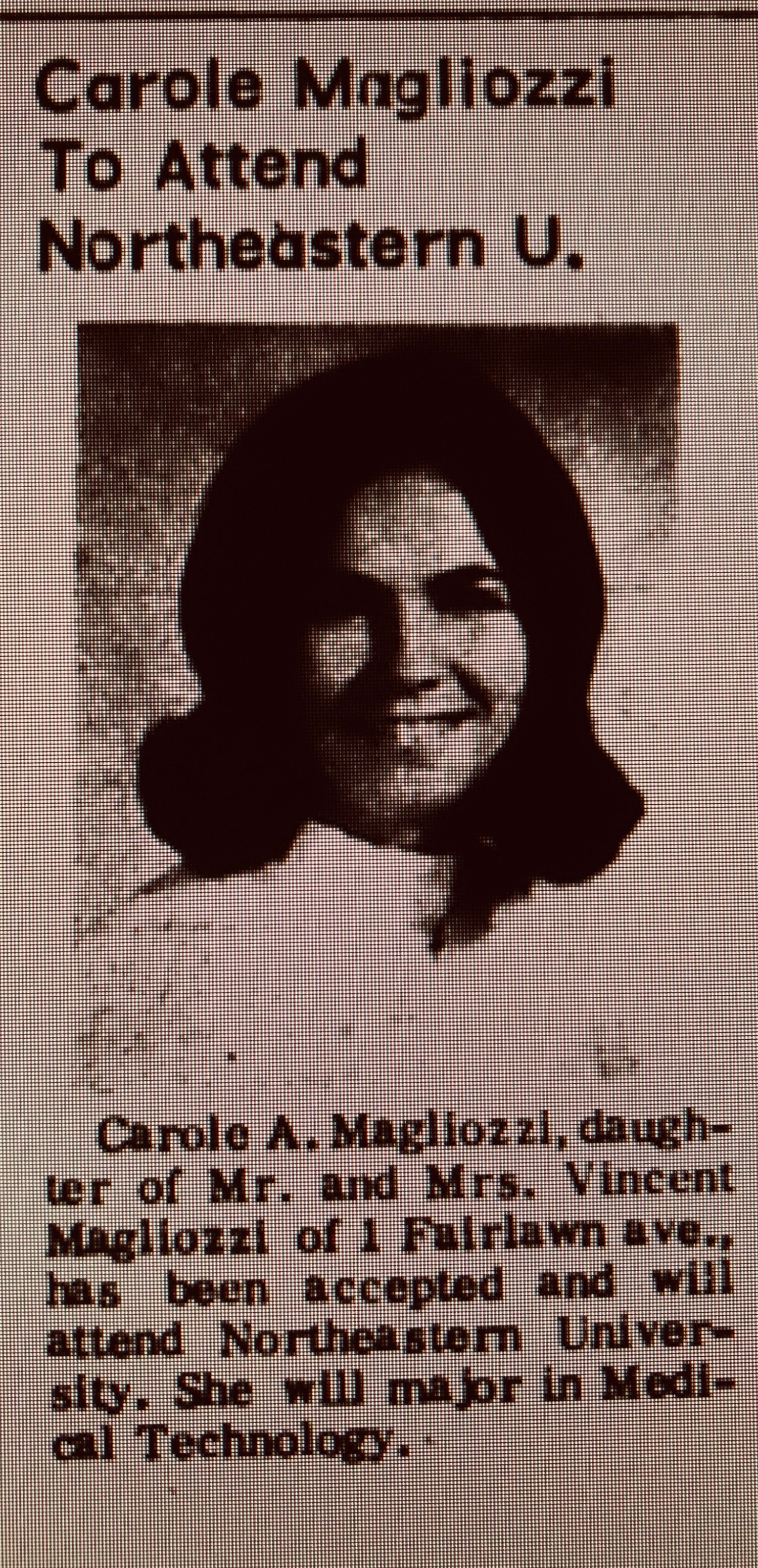 Carole Magliozzi Northeastern University Burlington MA