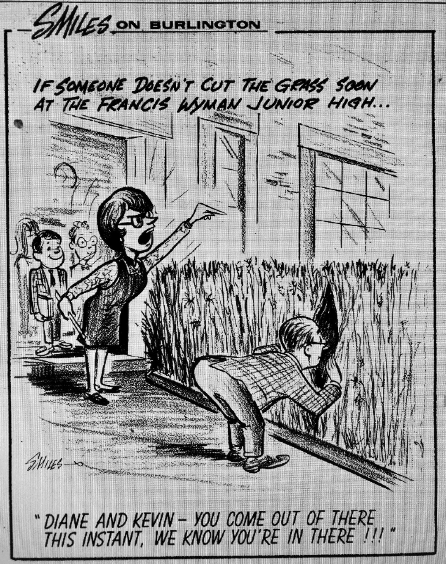 FW grass cartoon, Burlington MA
