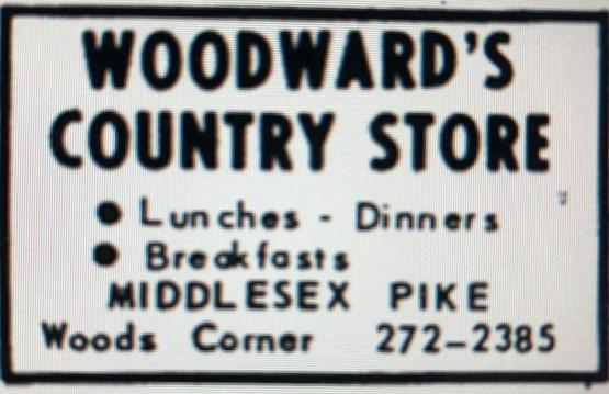 Woodward's Country Store ad, Burlington, MA