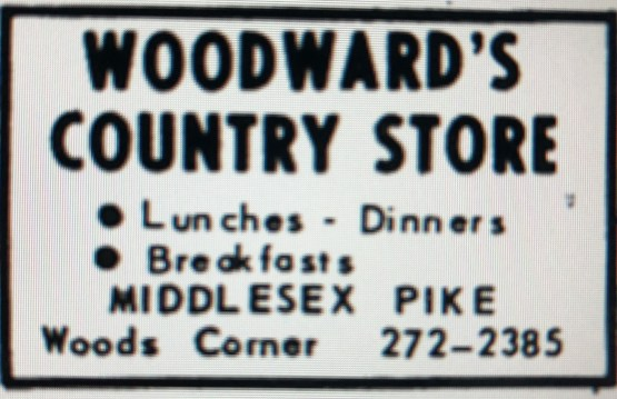 Woodward's Country Store ad, Burlington, MA