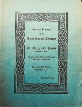 St. Margaret's Reunion book cover, Burlington MA
