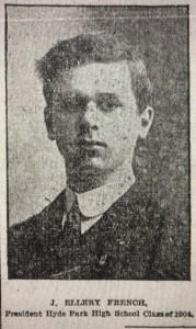 John Ellery French, namesake of Ellery Lane, Burlington MA