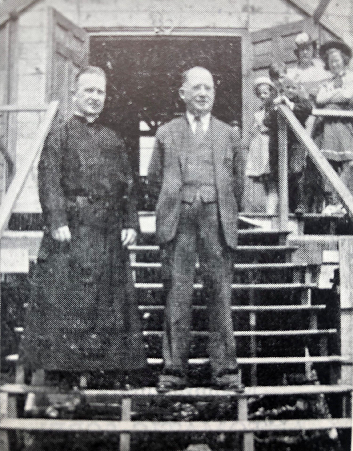 Father Herne, S.J., and Alphonse Ruel, building committee chairman