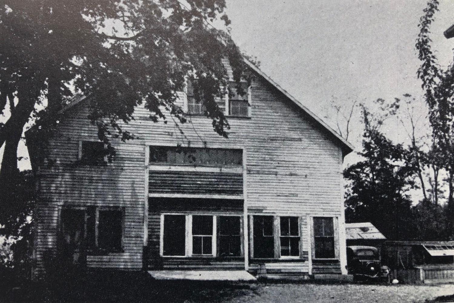 """""""The Barn"""" on Lowell Street, the first place of Catholic worship in Burlington"""