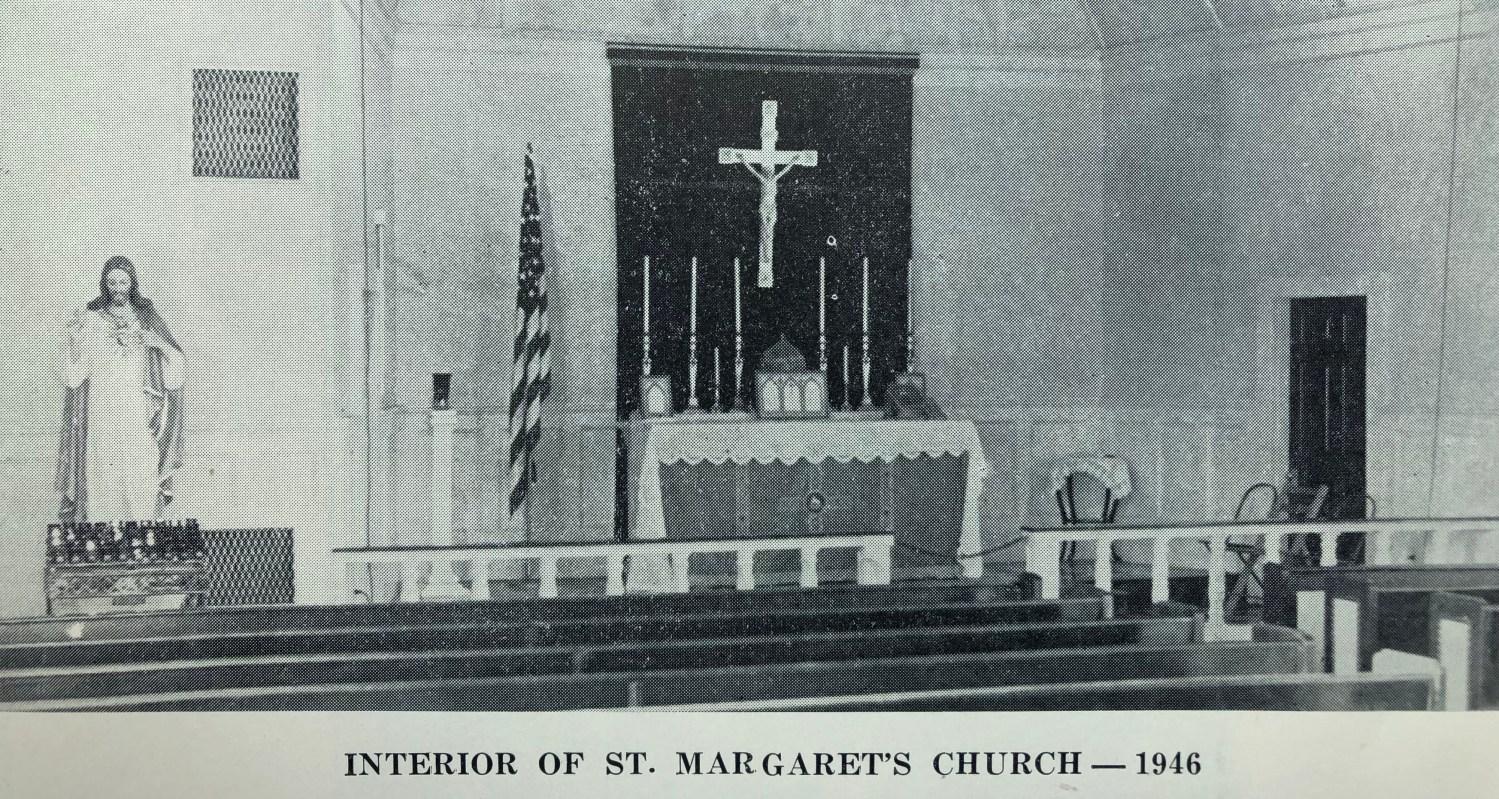 St. Margaret's Church interior 1946