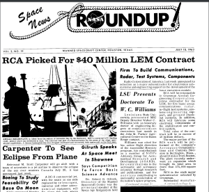 RCA's contract with NASA, Burlington MA