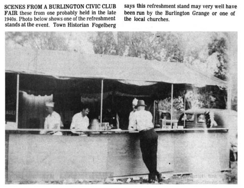 Burlington Civic Club stand, Burlington MA