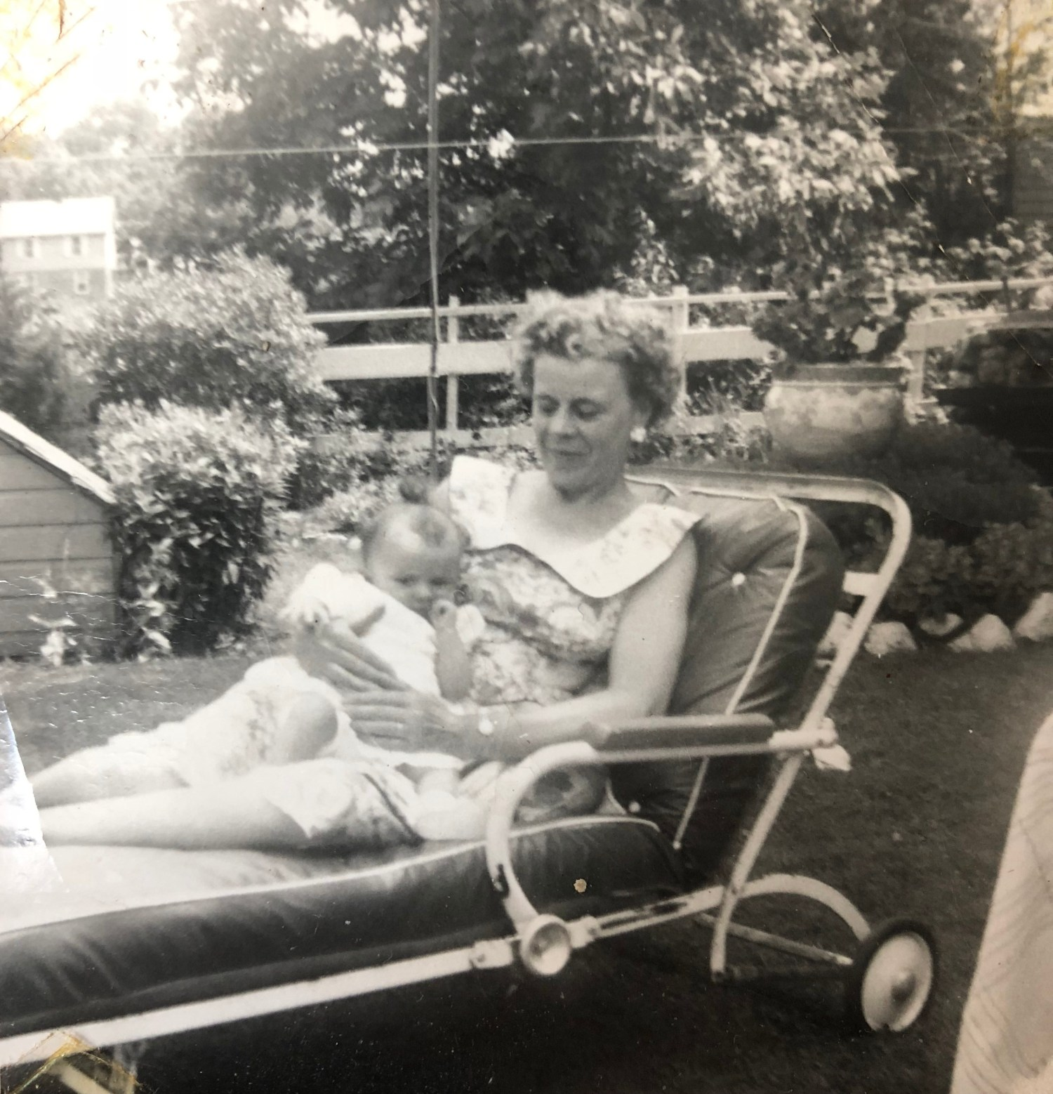 Esther Regan holding granddaughter Susan