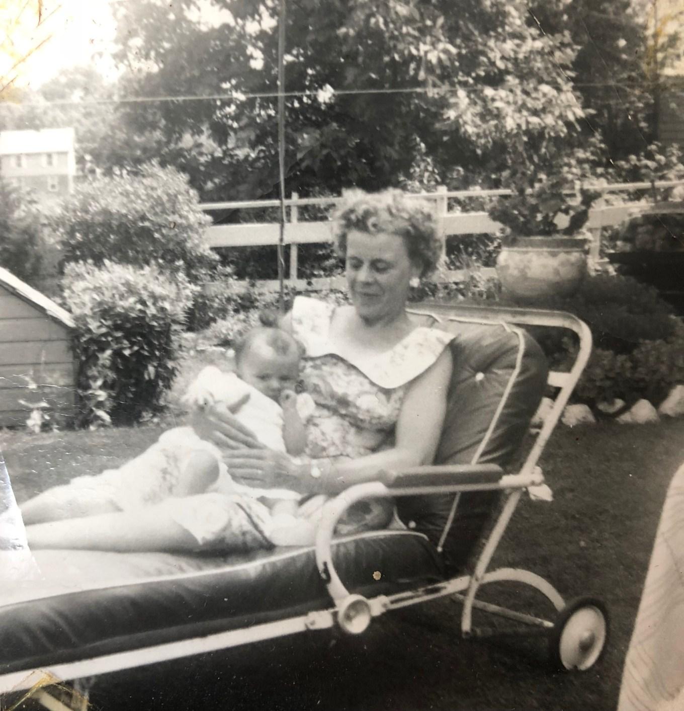 Esther Regan holding granddaughter Susan