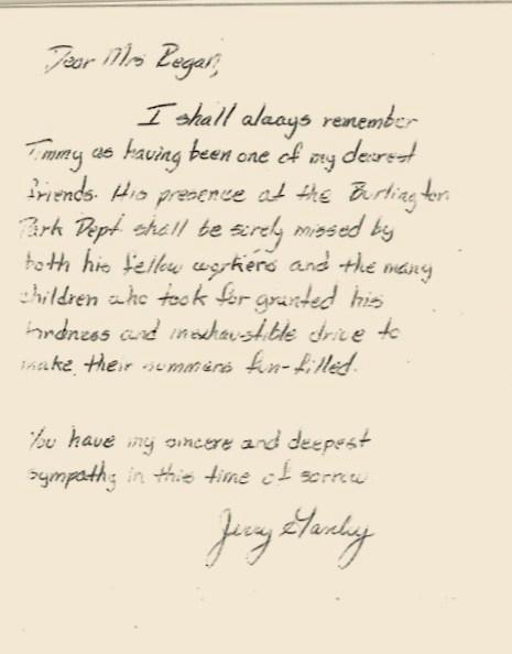Jerry Ganley's letter