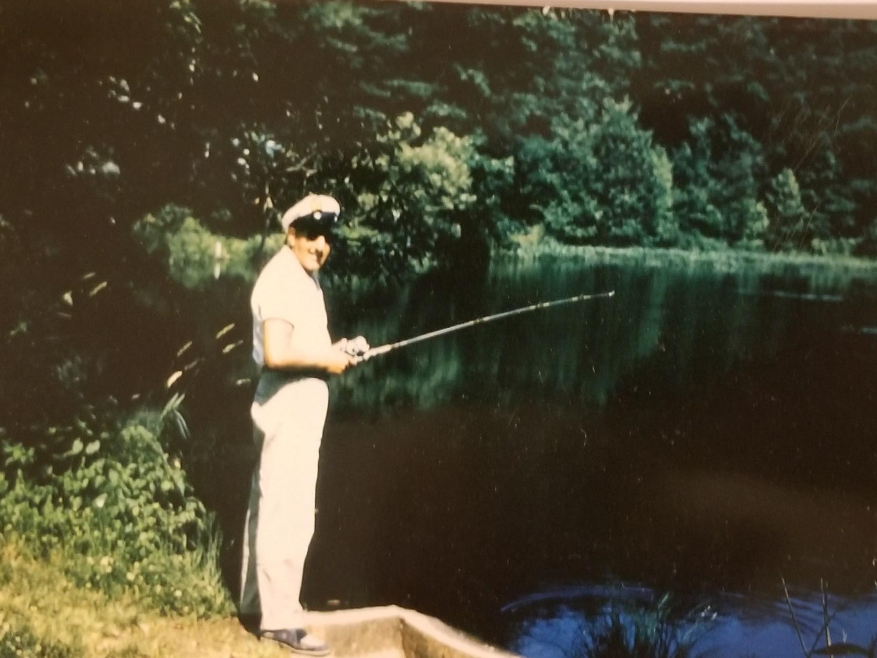 John DuCett at the secret fishing spot on the Concord