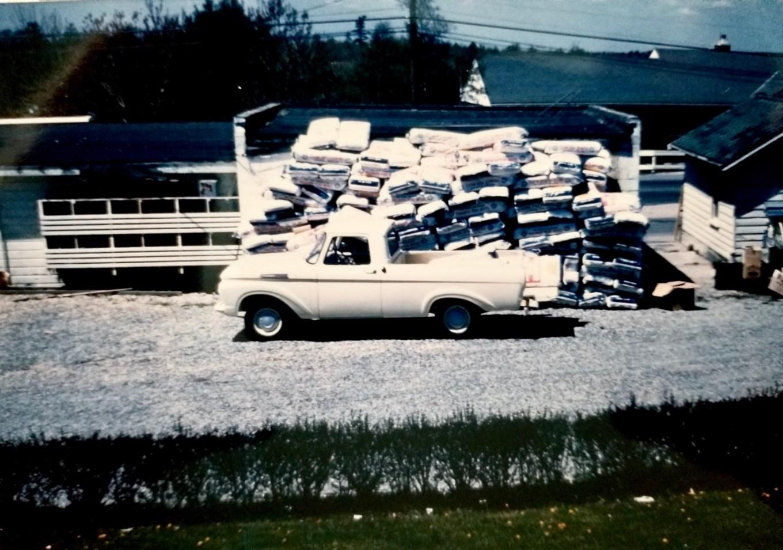 John DuCett's pickup taking some peat moss in 1962