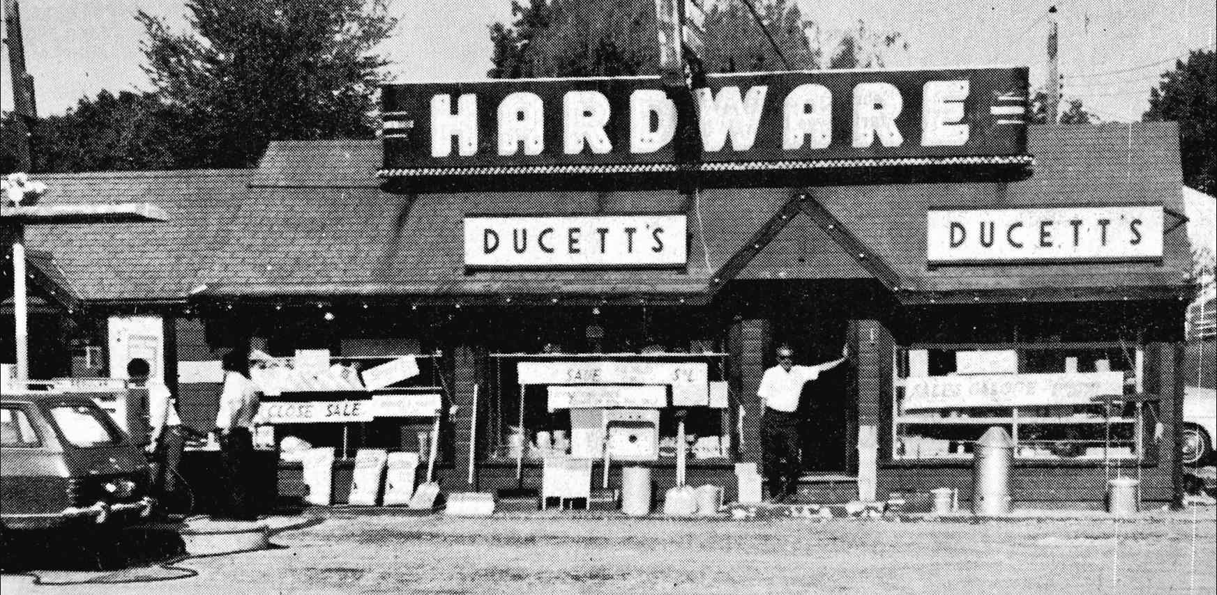 DuCett's storefront, Cambridge St. Burlington MA
