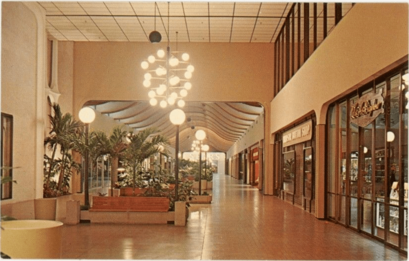 Burlington Mall, 1970 (other direction)