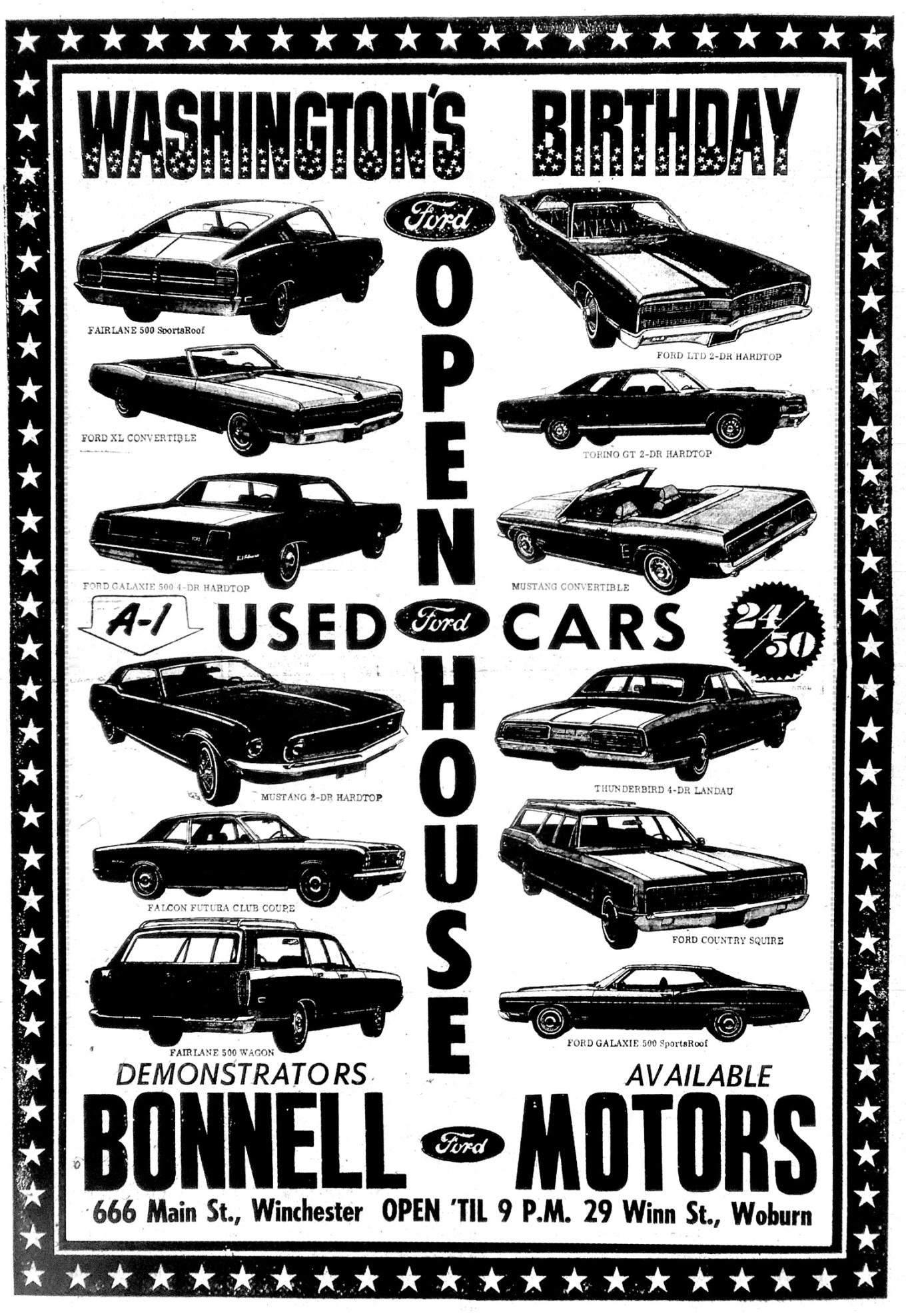 Bonnell Motors ad