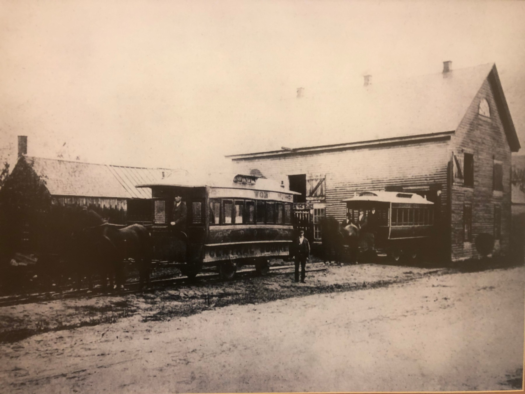 North Woburn Horse Trolley Barn, Main Street opposite Dexter Ave. 1880