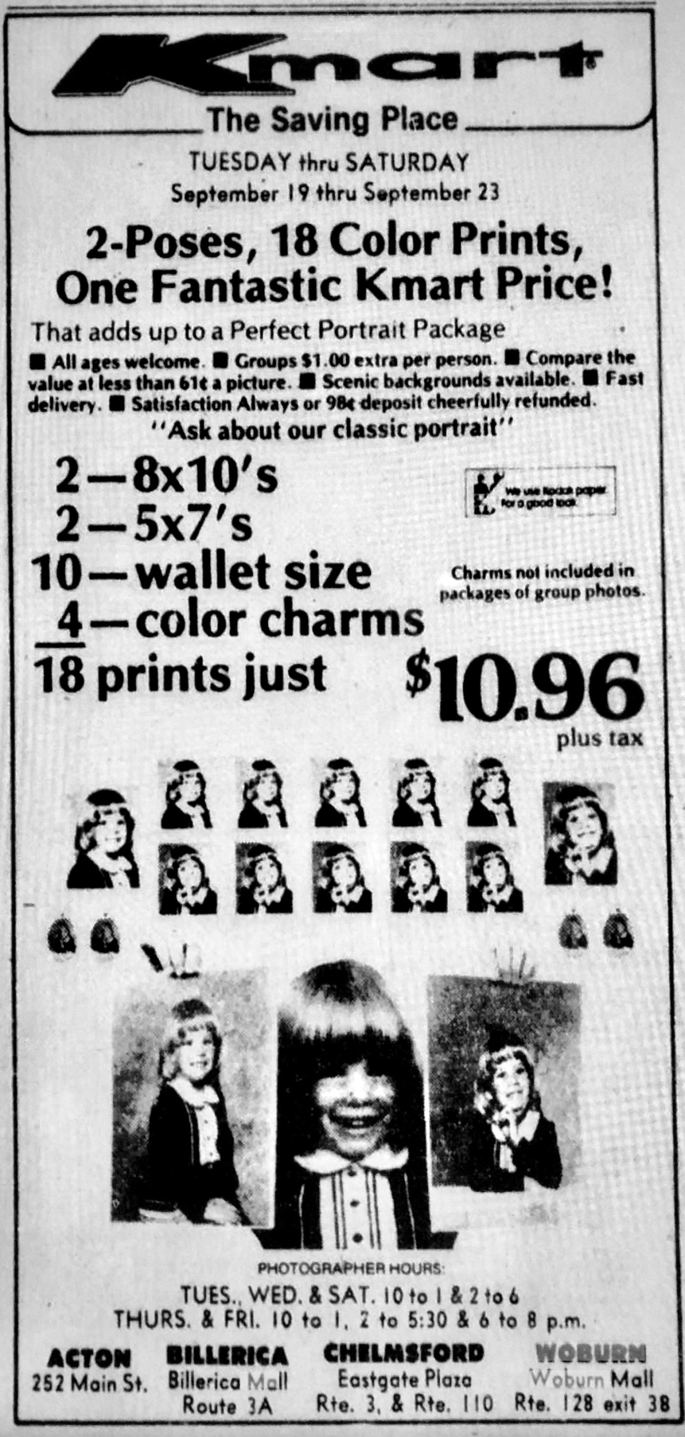 Kmart picture ad 1978