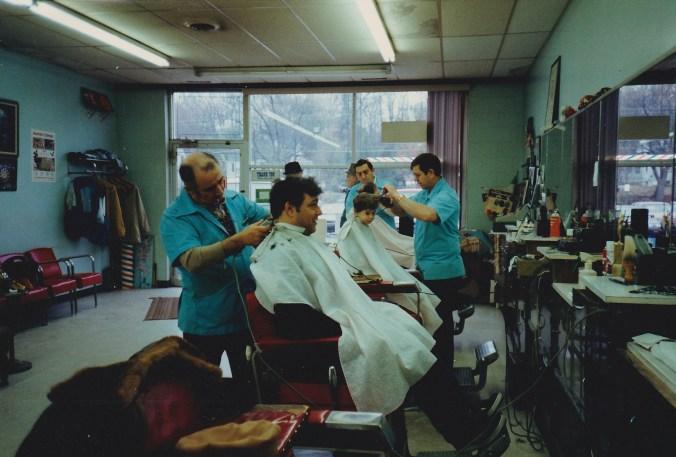 Ray's Barber Shop interior, Burlington MA c. 1989
