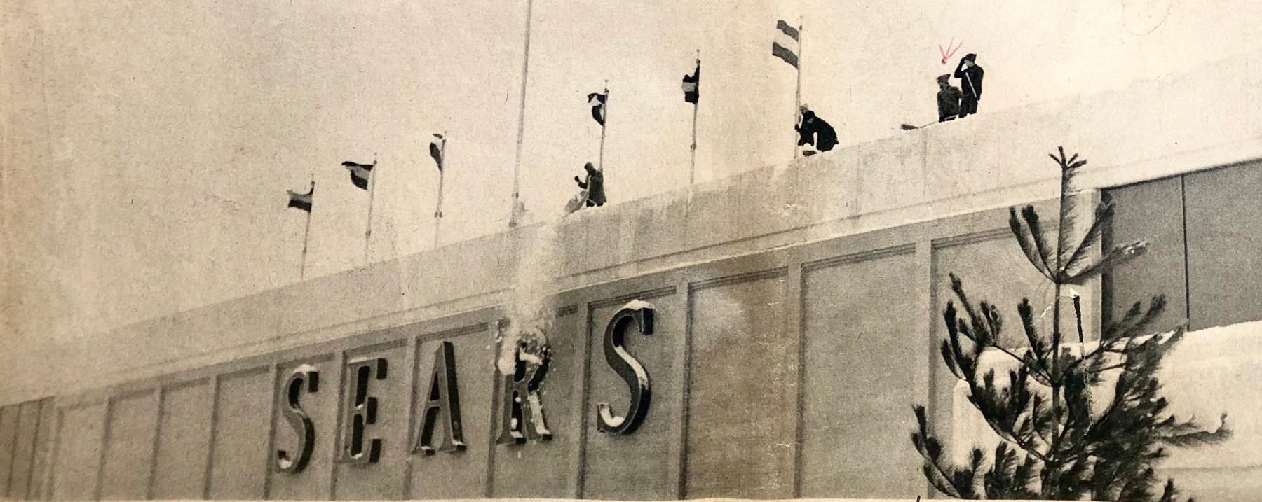 Sears roof shoveling