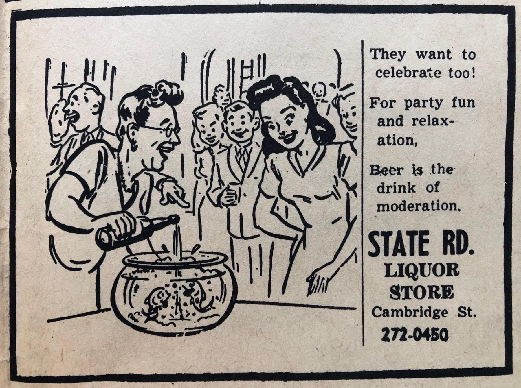 State Road Liquors 1964