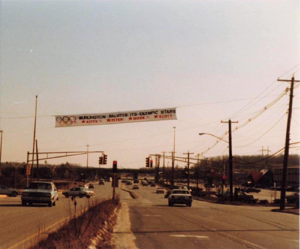 Olympians banner on Turnpike