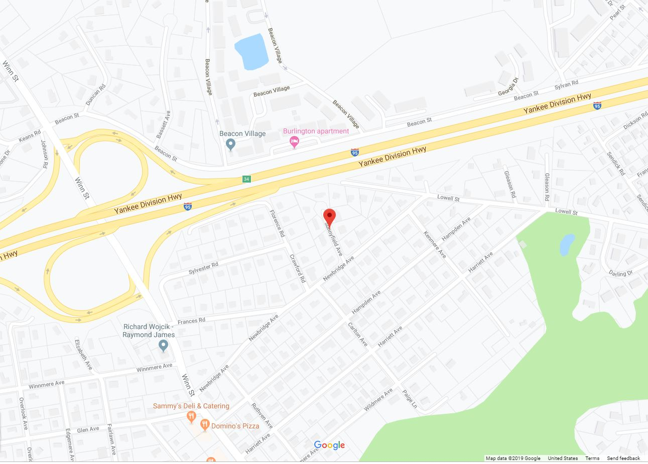 Sunnyfield Ave. Burlington MA