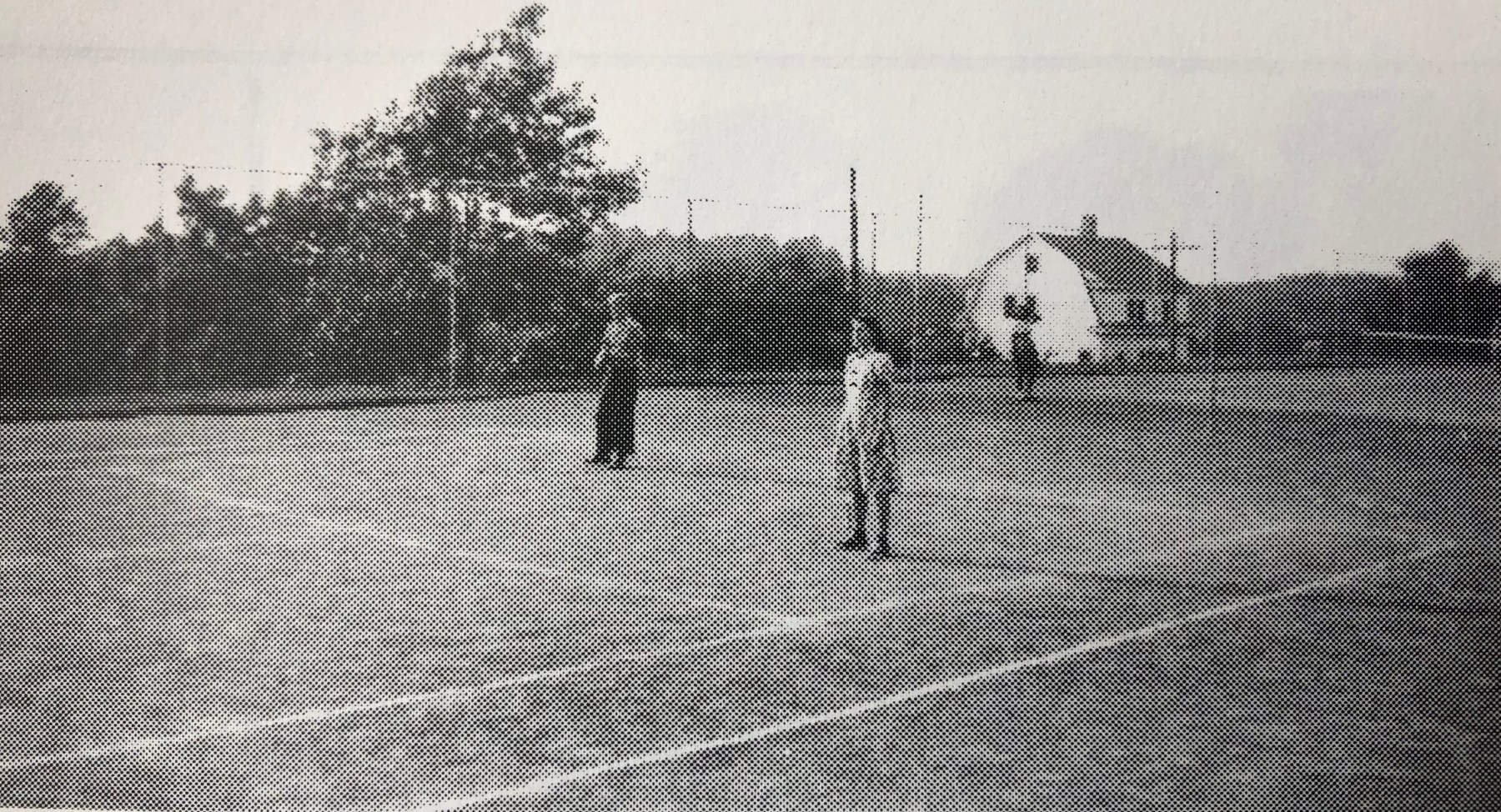 Simonds Park tennis courts c. 1940