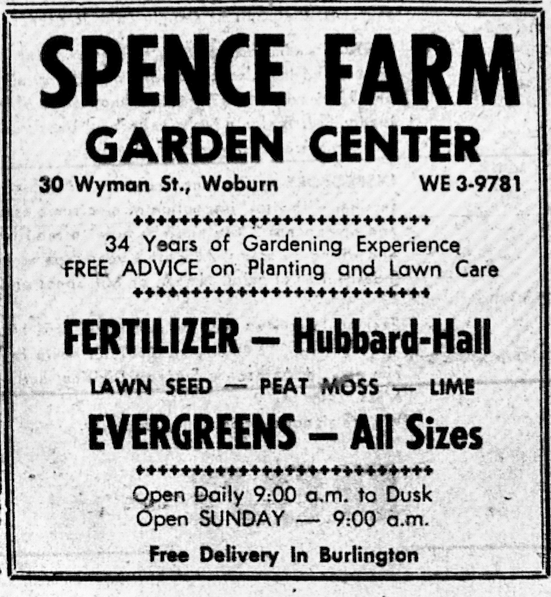 Spence Farm ad