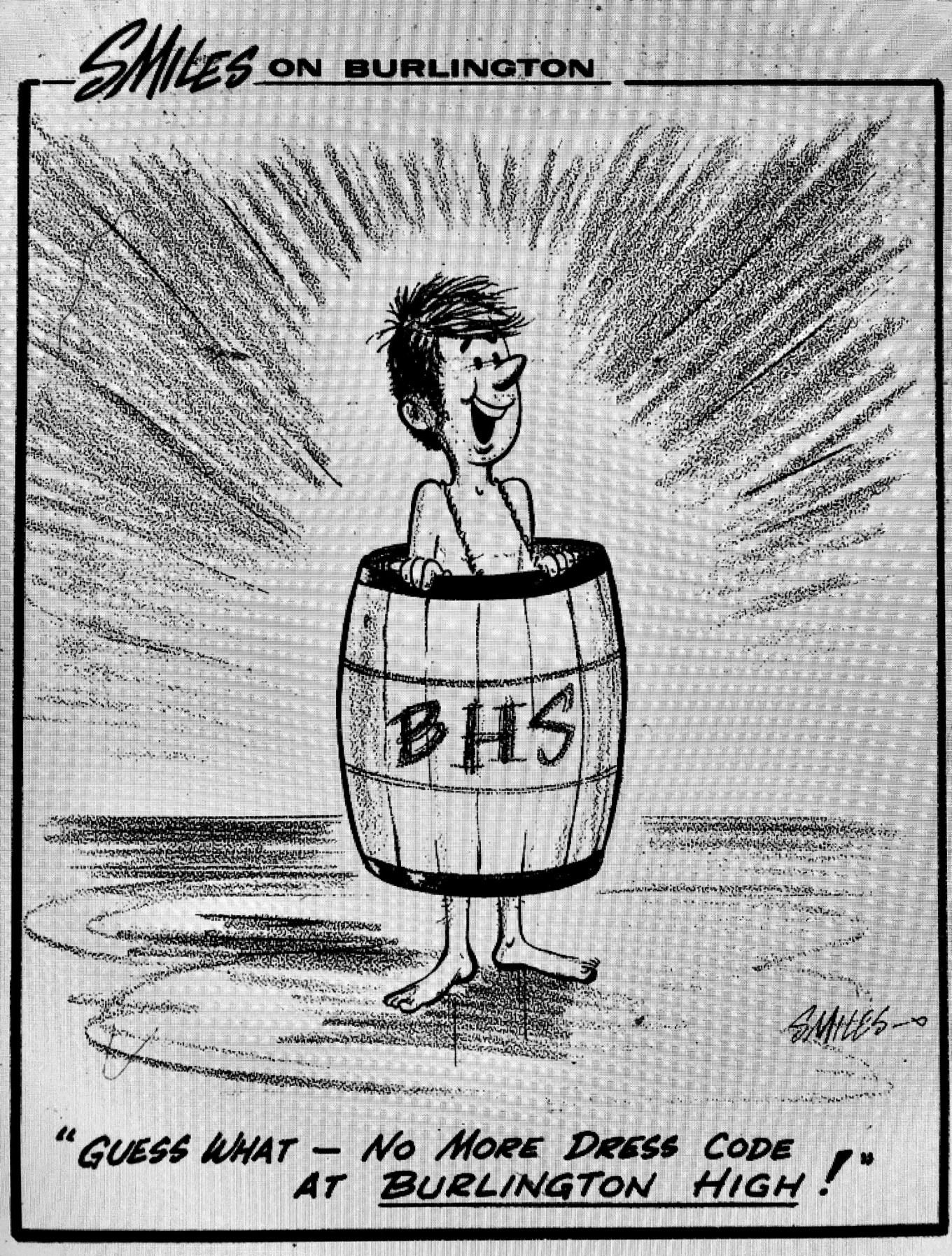 High School dress code cartoon
