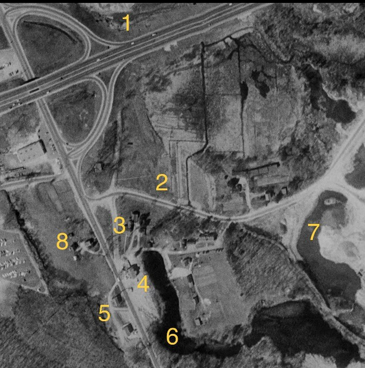Woods corner aerial 1957 Burlington MA