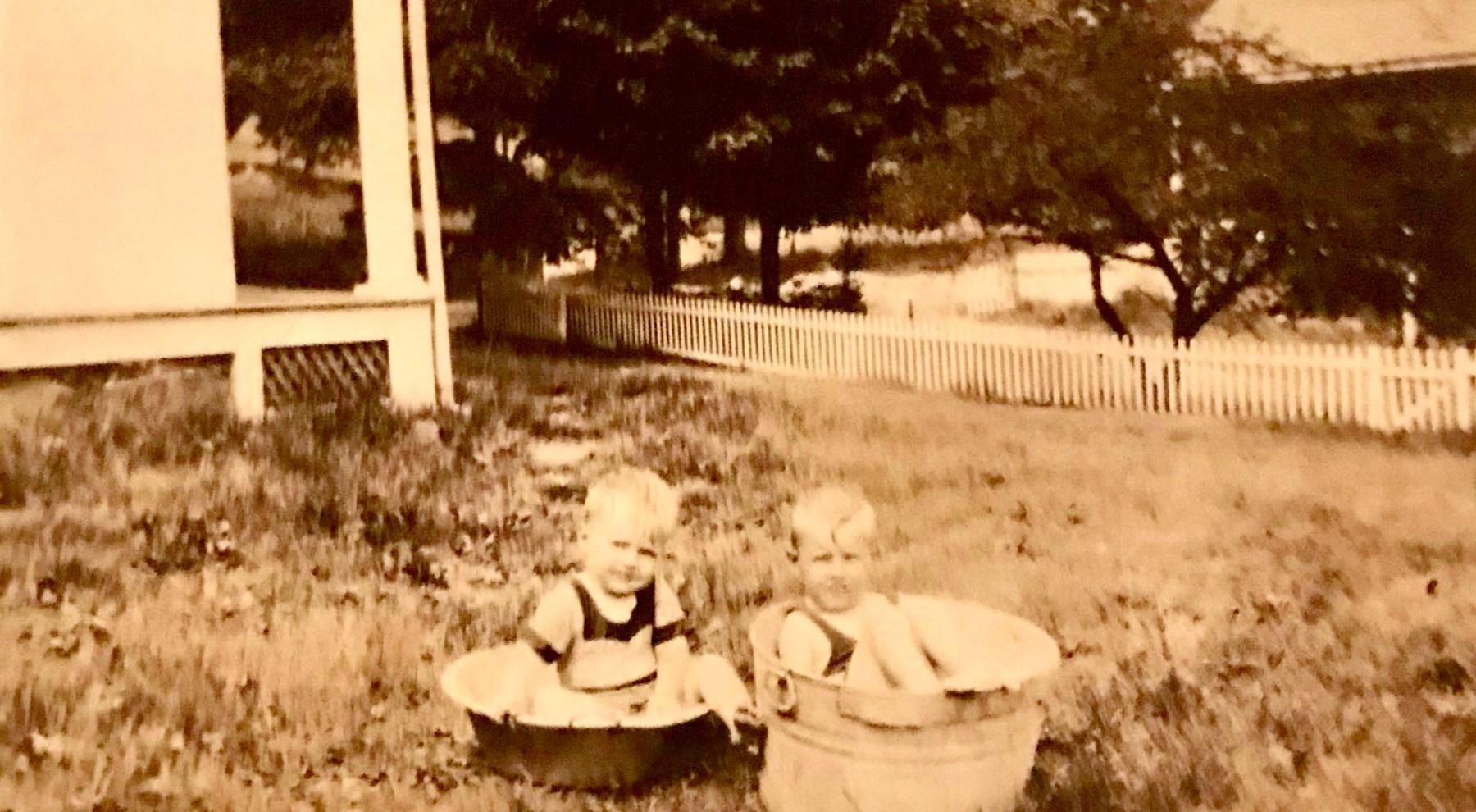 Billie (left) and Jimmy Ray, Burlington MA