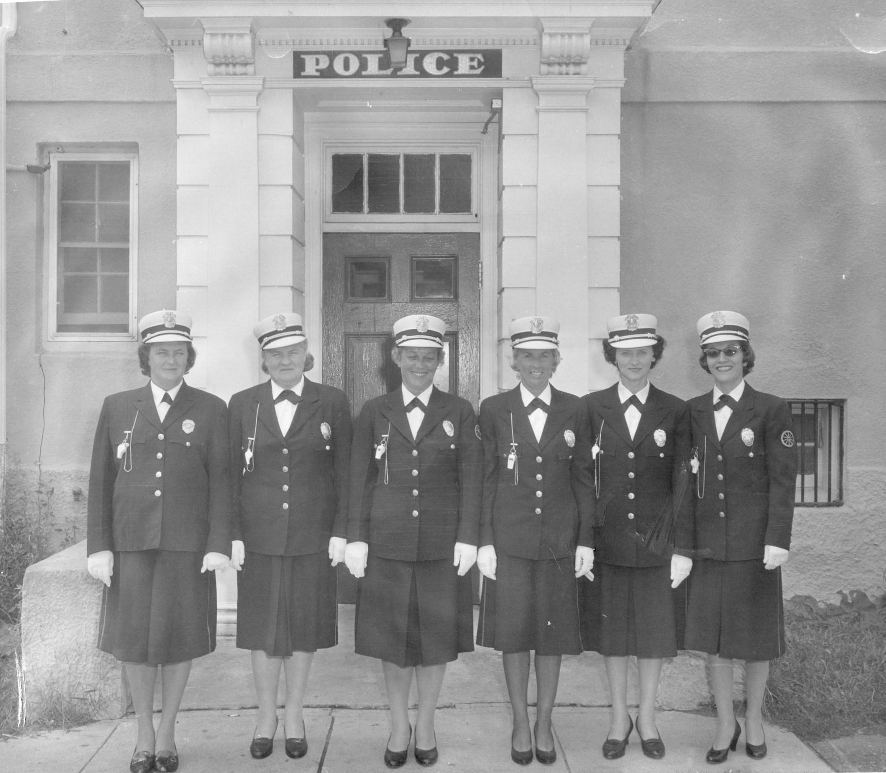 Burlington, MA police matrons, c. 1965. Photo credit: Maureen Putnam Paille.