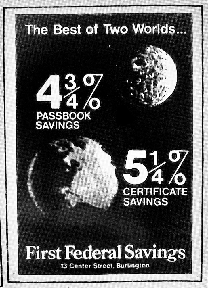 First Federal Savings moon ad