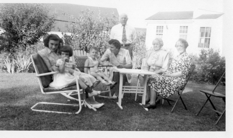 Reed family at 336 Cambridge Street, Burlington MA, June '46