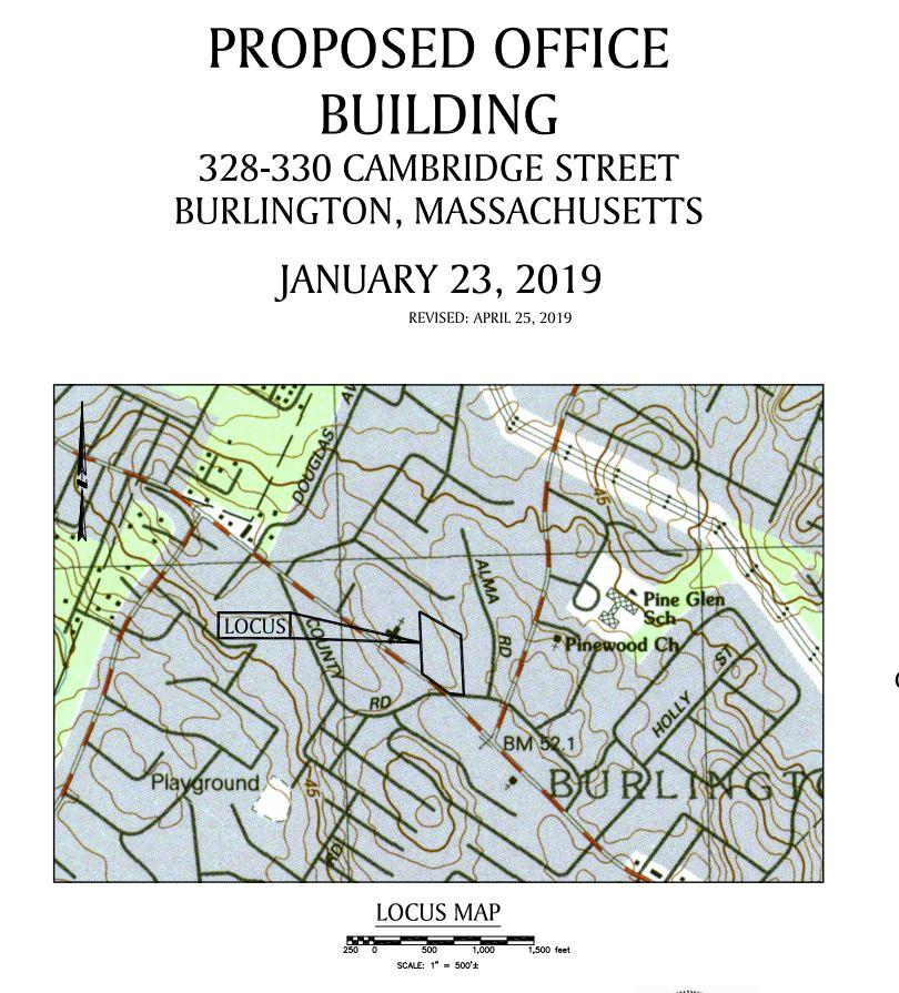 Reed Ham Works site plan, Burlington MA