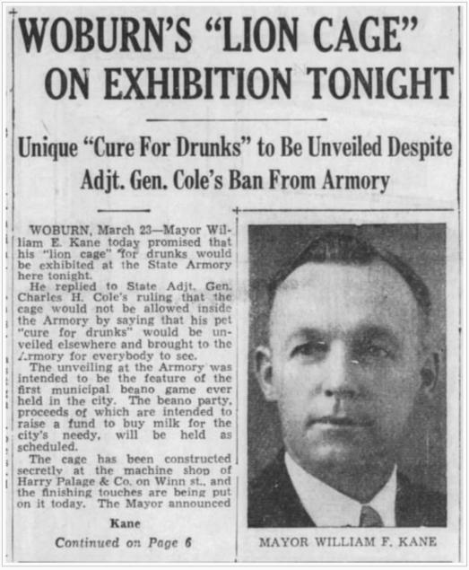 Kane cage article, Woburn MA