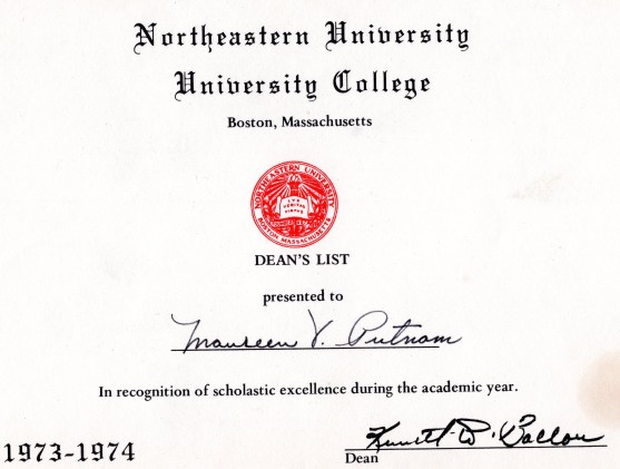 Putnam Dean's List at Northeastern