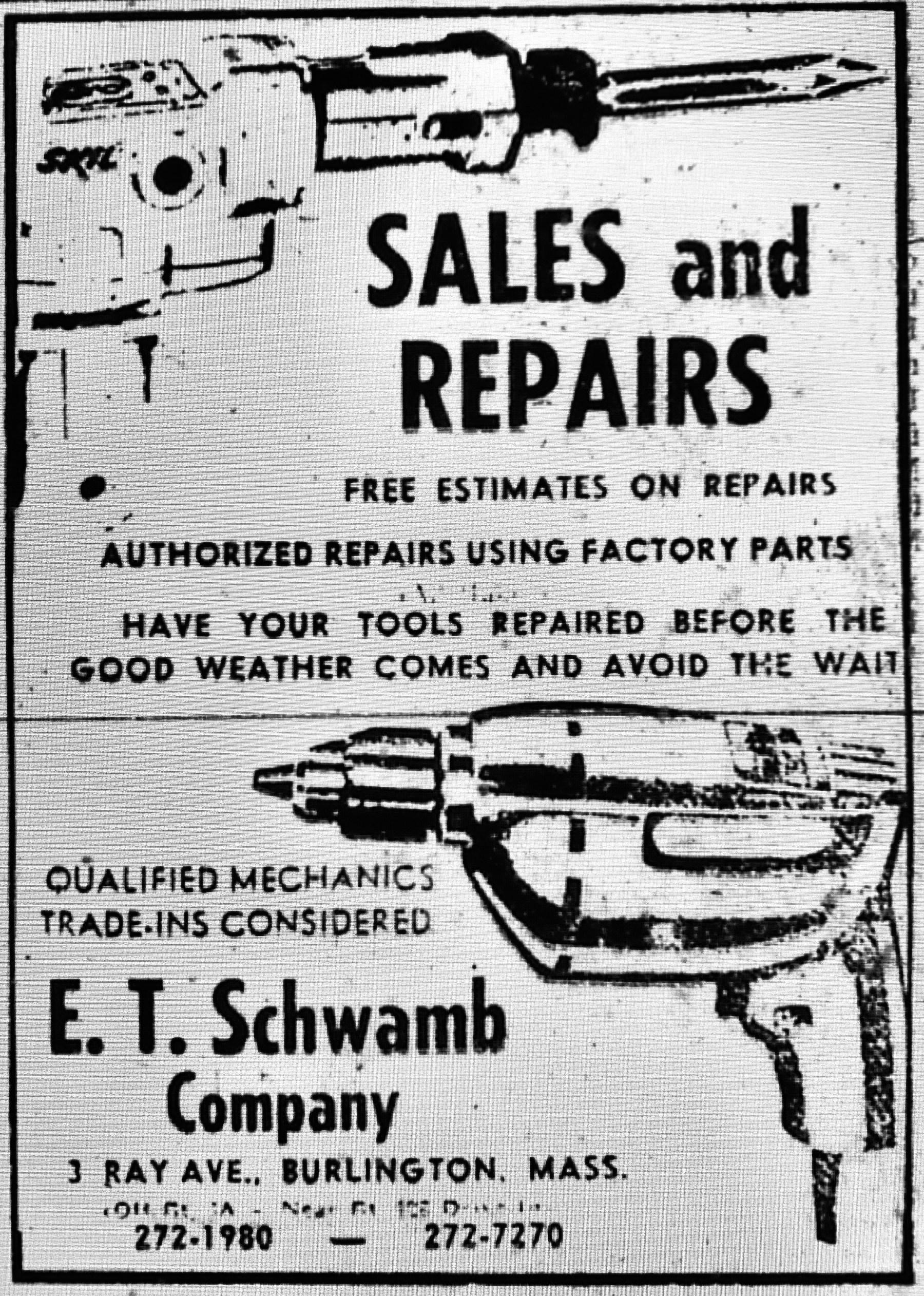 E.T. Schwamb Company Burlington MA