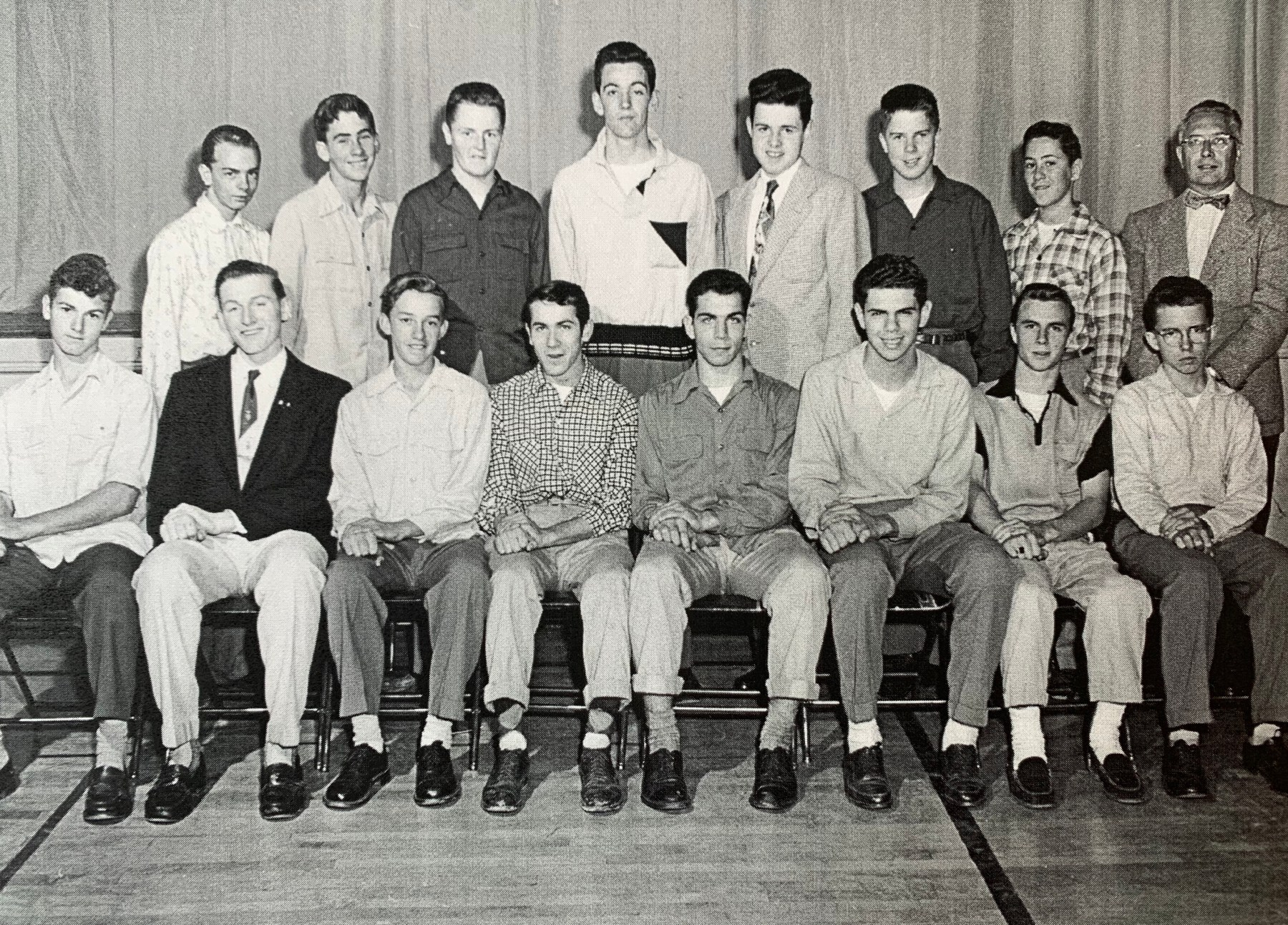 Traffic Squad, Burlington High School, 1955