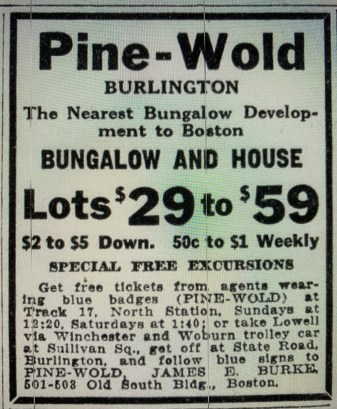 Pine-Wold Burlington 1917. The neighborhood between Terrace Hall and Bedford St.