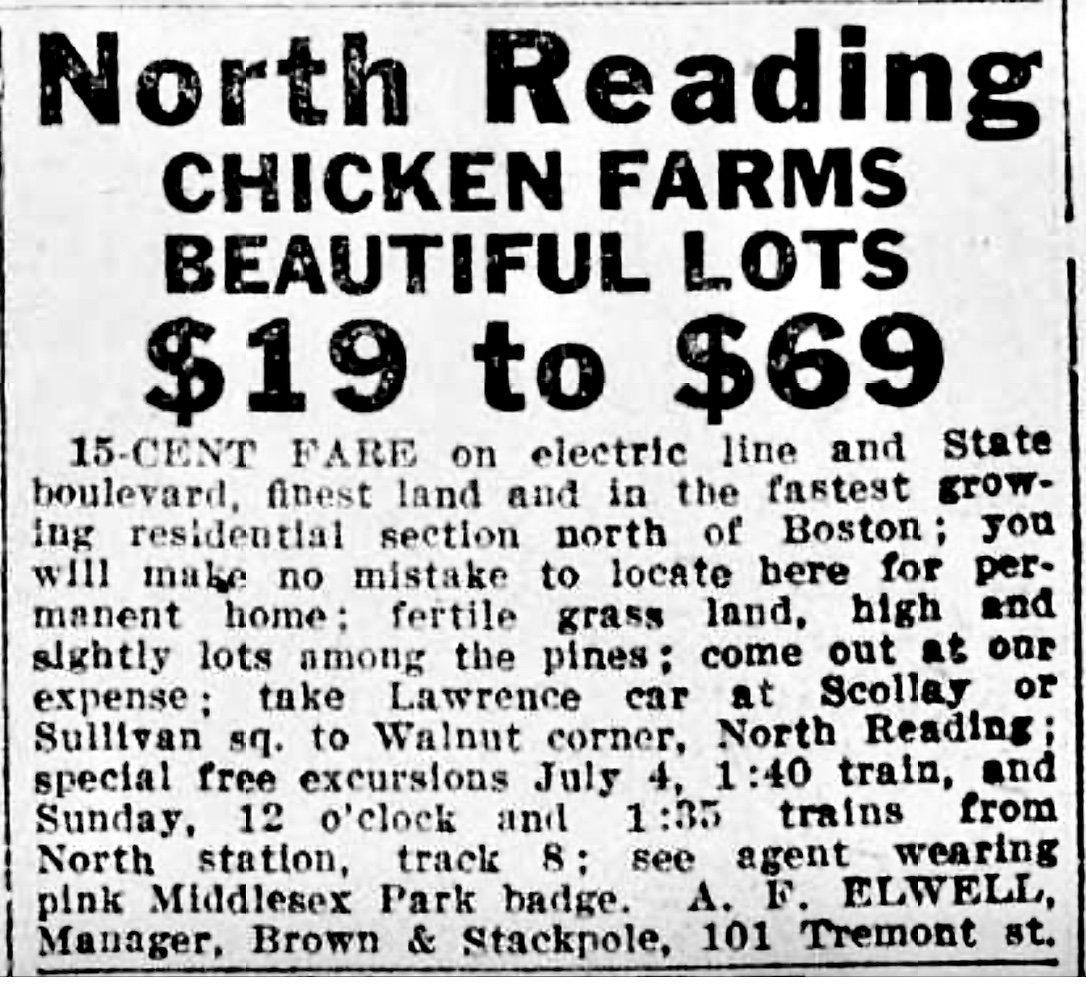 North Reading chicken farms